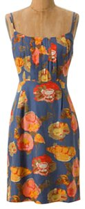 Anthropologie short dress Blue Motif Slip on Tradesy