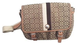 Coach Monogram Khaki Messenger Bag