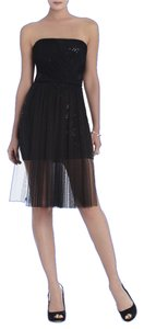 BCBGMAXAZRIA Petite Cocktail Dance Party Prom Night Black Tie Sequin Black New Dress