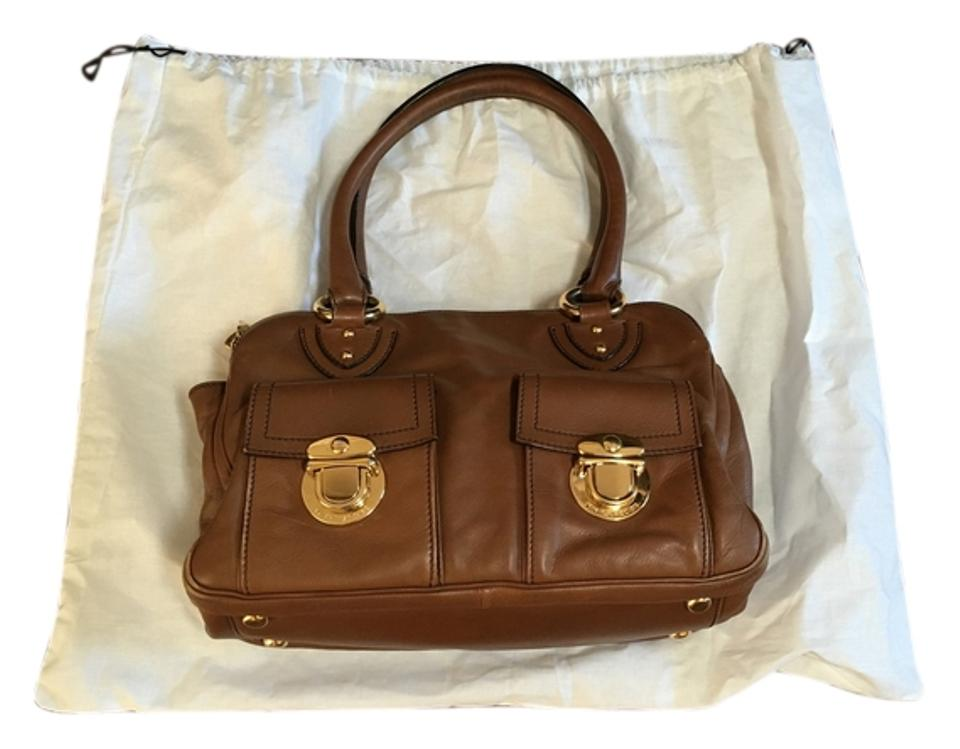 48f45b9d2d88 Marc Jacobs Blake Purse Camel Tan Gold Hardware Satchel in Brown   Peanut  Image 0 ...