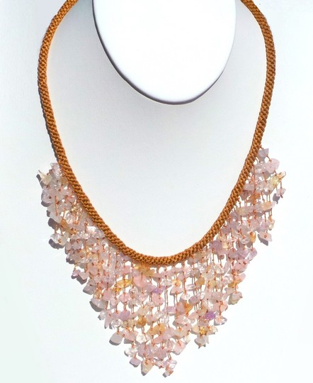 Other Handmade Genuine Quartz Statement Necklace