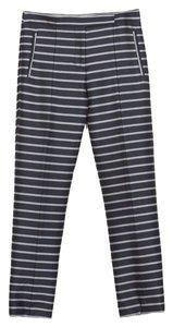 Zara Striped Trouser Pants Navy Stripe