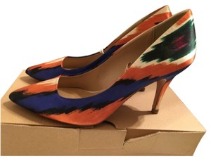 Zara Orange/Blue/White Pumps