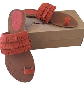 Tommy Bahama Suede Orange Sandals