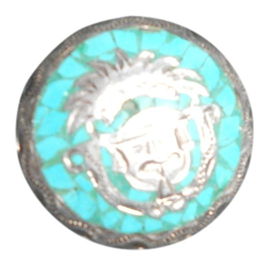 Preload https://img-static.tradesy.com/item/737743/turquoise-925-silver-warrior-pendant-0-0-540-540.jpg