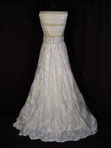 Pronovias Ivory/gold Silk Satin Wedding Dress