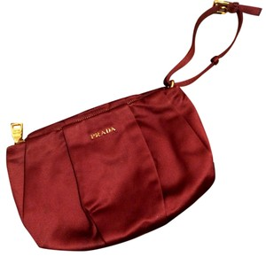 Prada Clutch Evening Wristlet in Red / Burgundy