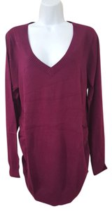 Old Navy Old Navy Maternity V-Neck Long Sleeve Pullover Winter Wine Size XL NWT