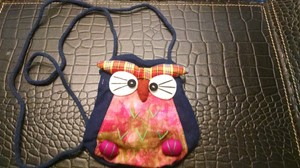 Other New Pouch Sewn Handmade Crossbody Wallet Cute Phone Key Kid Gift Free Shipping Owl One Of A Kind Cotton Artisan Sewn Multi Blue Navy Messenger Bag