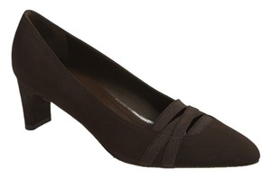 Stuart Weitzman Suede Pump Dark Brown Pumps