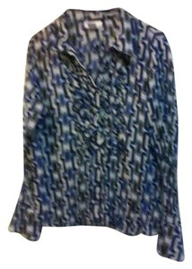 Worthington Top multi blue white & black