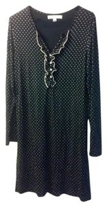black & light brown polka dot Maxi Dress by Ellen Tracy