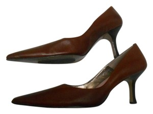 BP. Clothing Leather 7.5 Stilletto Brown Pumps