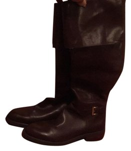 Enzo Angiolini Leather Brown Boots