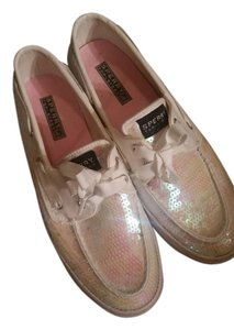Sperry Whits with Sequin Flats