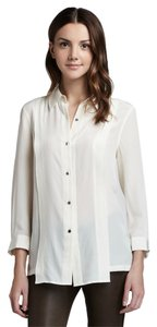 Marc by Marc Jacobs Silk Shirt Button Down Shirt Ivory
