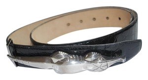 Kieselstein-Cord sterling silver alligator 2001 BELT with buckle RARE $2,968