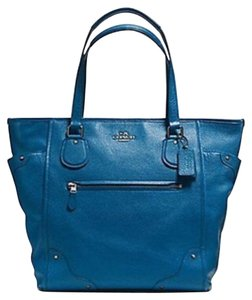 Coach Tote in Denim Blue