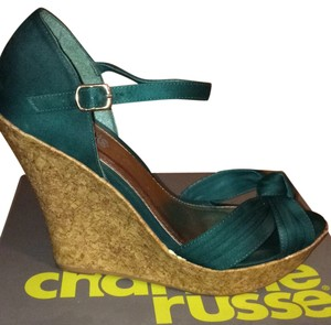Charlotte Russe Teal Wedges