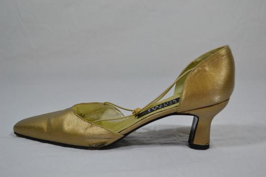 Stuart Weitzman Golden Pumps