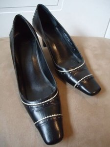 Coach Leather Black Pumps