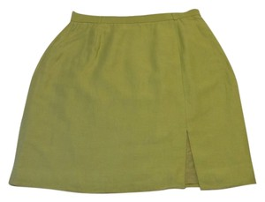 Ann Taylor Green Mini Skirt Light Green