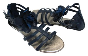Other New Excellent Condition Size 7.00 M Navy Blue, Gold Sandals