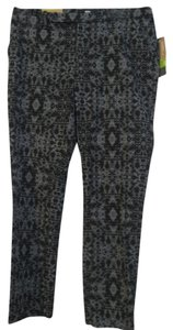 Mossimo Supply Co. Capri/Cropped Pants Black and Grey