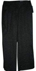 Worthington Trouser Pants Black and silver