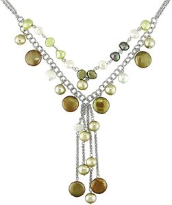 Multi-colored pearls Multi-color Necklace