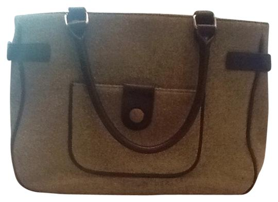 Ann Taylor LOFT Satchel in Green/ Brown