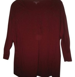Coldwater Creek Top Burgundy