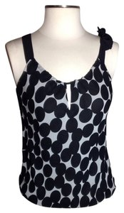 White House | Black Market Sexy Sleeveless Top Black White