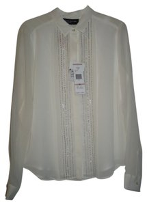 Jones New York Button Down Shirt Ivory