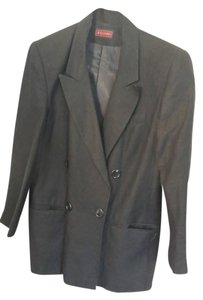 Other Black double breasted jacket linen and rayon