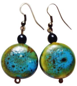 NEW Handmade Vintage Ceramic Bead Earrings