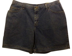 Riders by Lee Denim Cotton Plus-size Shorts Blue