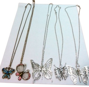 BUTTERFLY PENDANT NECKLACES