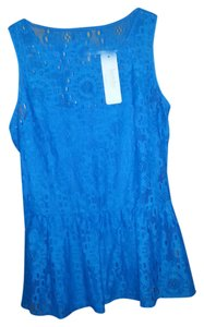 Laundry by Shelli Segal Peplum Top Blue