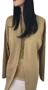 Susan Graver Metallic Holiday Party Event Top * Gold * NEW *