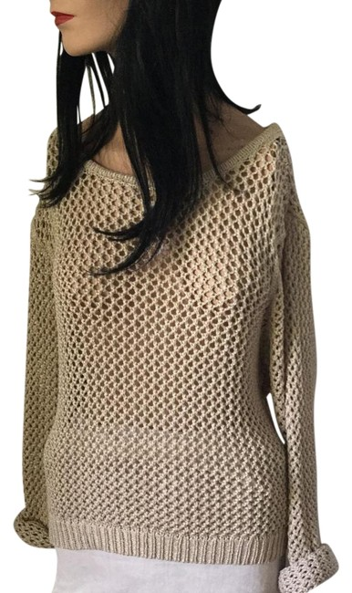 Preload https://img-static.tradesy.com/item/7388488/tan-unisex-knit-sweaterpullover-size-6-s-0-1-650-650.jpg