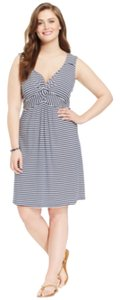 Style & Co short dress Blue and white on Tradesy