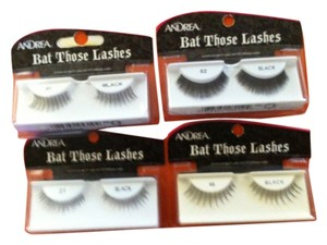 Andreana 4 Packs REUSABLE Black Eyelashes