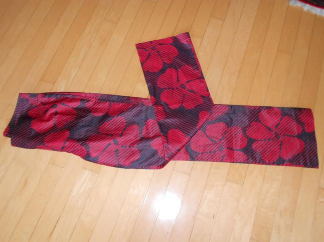 Express Floral Boot Cut Pants RED/BLACK