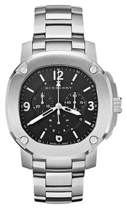 Burberry NWT Burberry the Britain Steel Mens Chronograph BBY1102