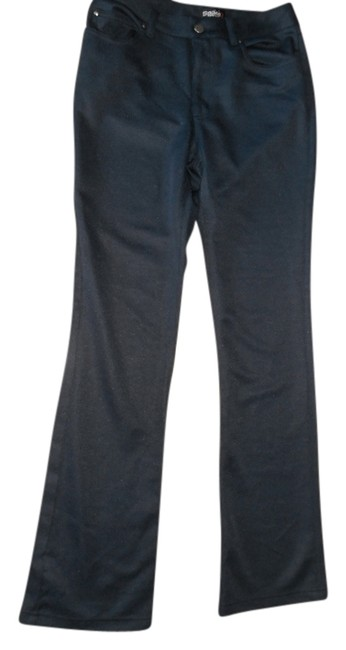 Other Space Girls Ribbed Polyester Casual Navy Flare Pants NAVY BLUE