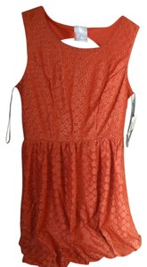 Jella Couture short dress Orange on Tradesy