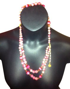 Lisner Lisner STAMPED Pink Beaded Pearled Layered Necklace with Gold Lisner Emblem BEAUTIFUL,CLASSY,STYLISH, Great Condition Retail $69.99