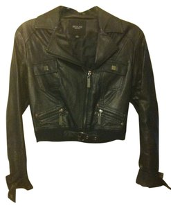 Beulah Crop Faux Leather Motorcycle Jacket