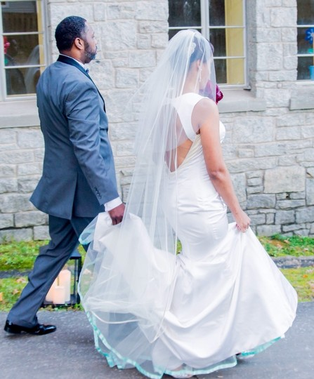 Beautiful custom made bridal veil
